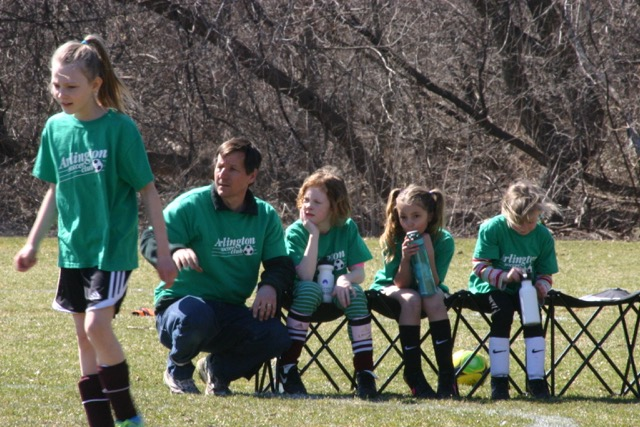 Carlsmith coaching soccer