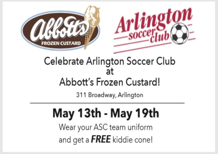 FREE Custard for ASC Players at Abbott's